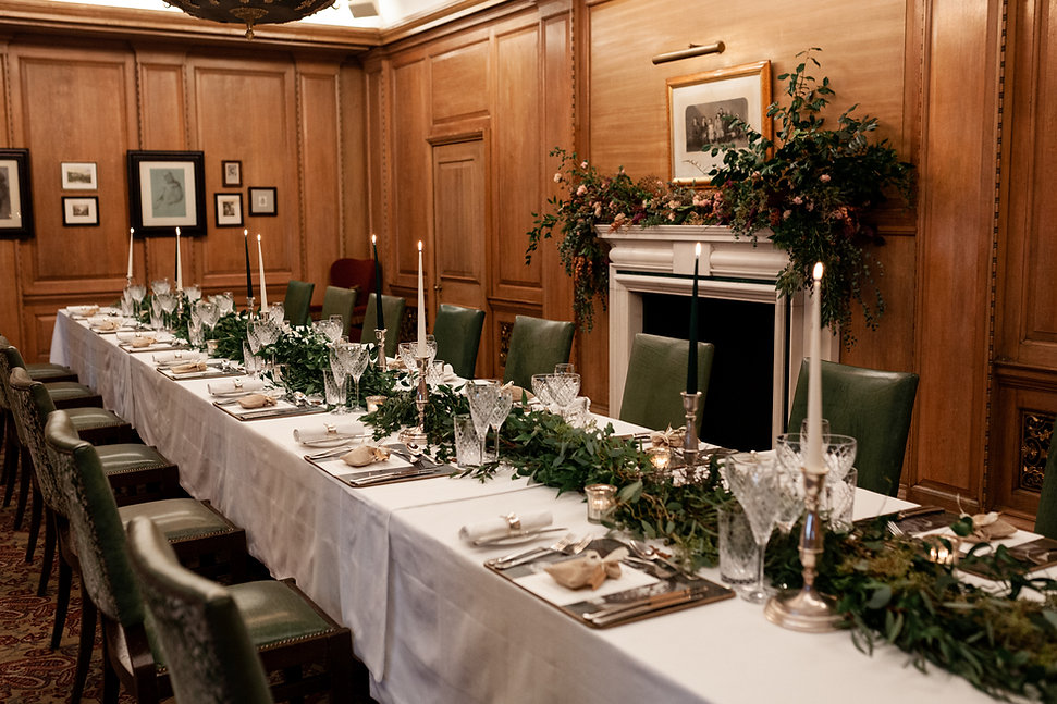 The Ned Wedding reception, London, RWB room, captured by Grace Pham Photography 01