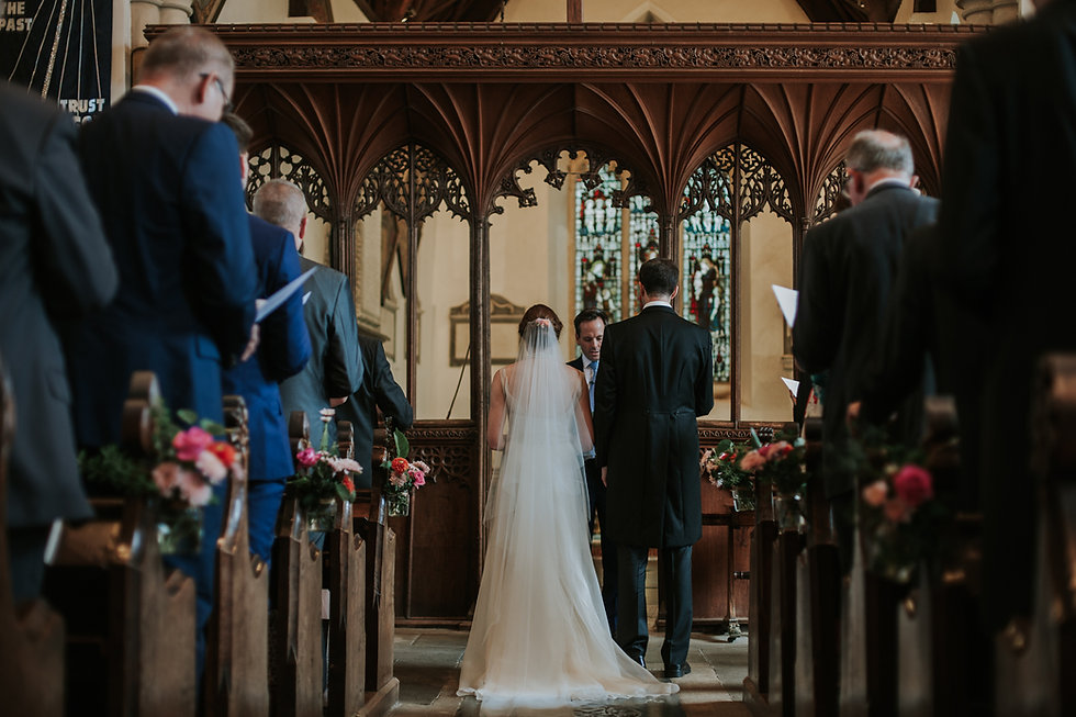 St Mary's Church Wedding, Wootton captured by Grace Pham Photography 06