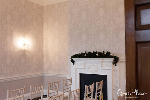 The new redecorated Sheridan Marriage Room at Merton Register office, Morden Park House. Image by London Wedding Photographer 03