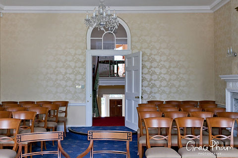 The Lord Nelson Room at Merton Register office, Morden Park House. Image by London Wedding Photographer.