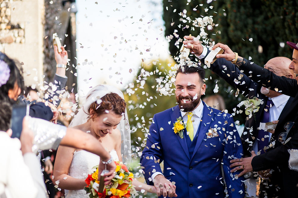 Saint Mary The Virgin Church Wedding, Ipswich, Suffolk, confetti moment captured by Grace Pham Photography 02