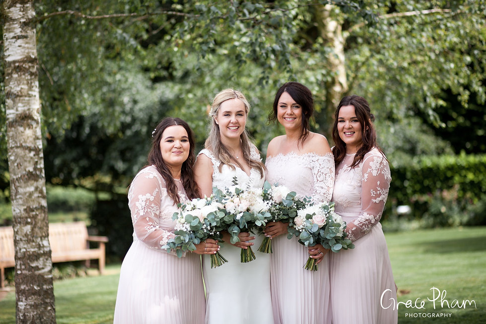 Gate Street Barn Wedding, Bridal Party, captured by Grace Pham Photography