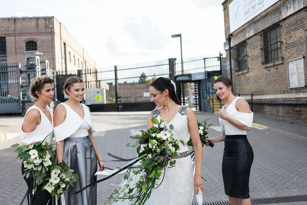 Warehouse wedding at Studio Spaces in East London captured by Reportage London Wedding Photographer