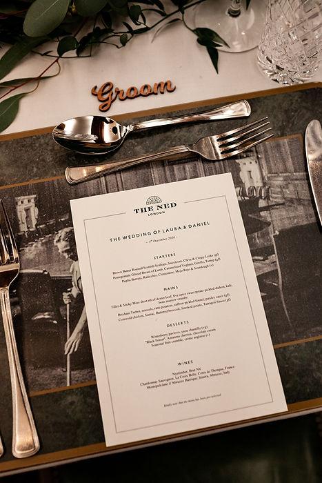 The Ned Wedding reception, London, RWB room, captured by Grace Pham Photography 04