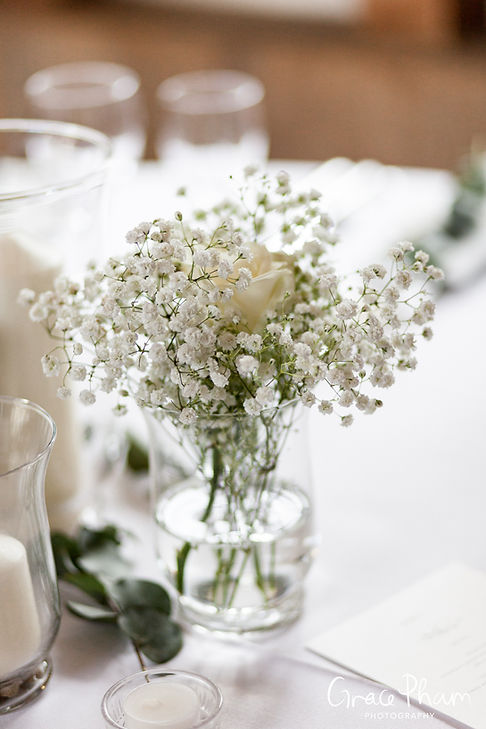 Gate Street Barn Wedding, Reception room, captured by Grace Pham Photography 5