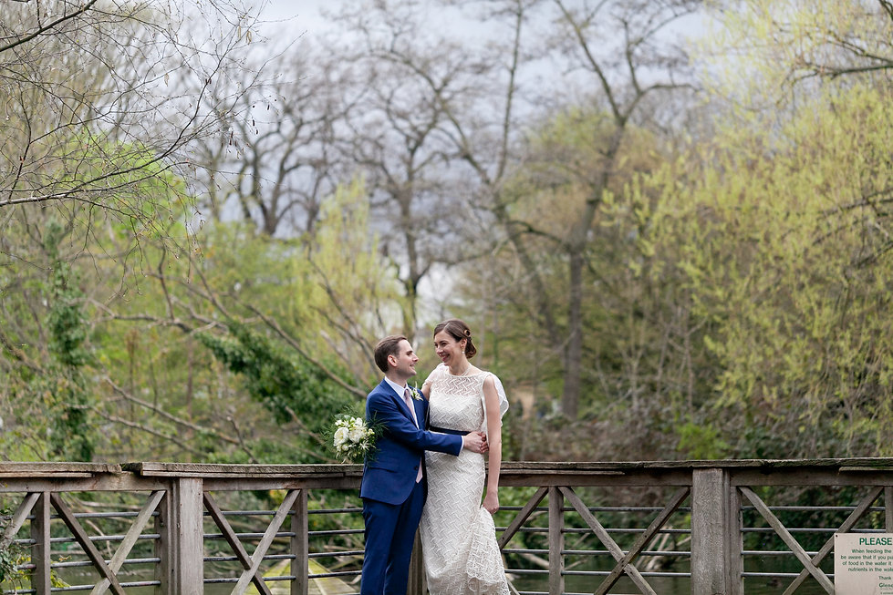 Wedding photos at Manor House Garden, love this shot of the bride and groom, captured by London Wedding Photographer.
