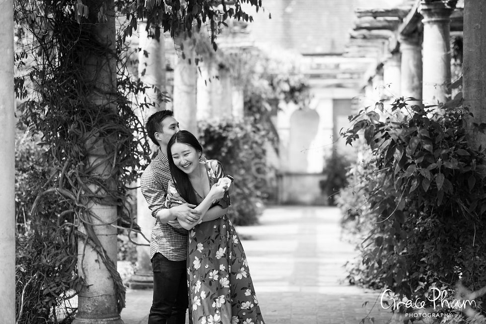 Hampstead Pergola & Hill Gardens Engagement Shoot captured by Grace Pham London Wedding Photographer 05