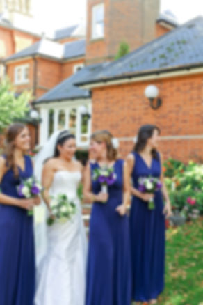 bridesmaids with bride, kent wedding photographer