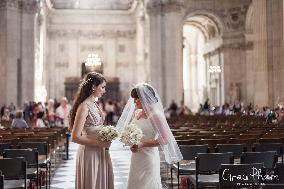 St Paul's Cathedral Wedding, London, Grace Pham Photography 03
