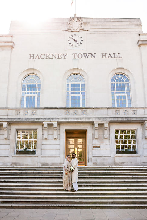 Hackney Town Hall Wedding Photographer captured by Grace Pham