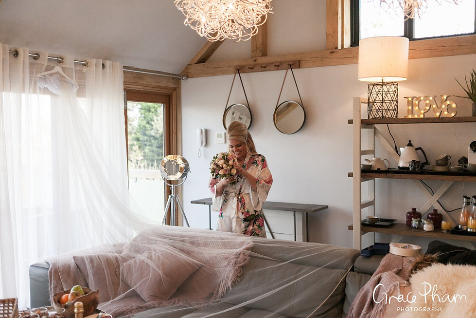 Bride getting ready at Cooling Castle Barn, by Kent Wedding Photographer