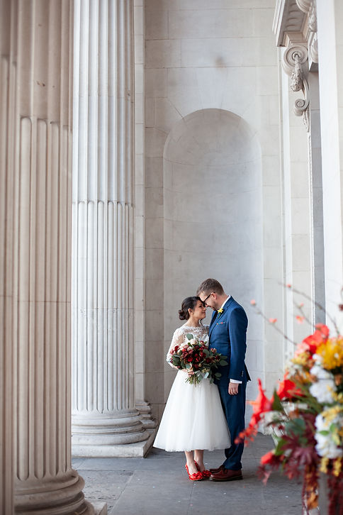 Covid-19  Wedding at The Old Marylebone Town Hall captured by Grace Pham Photography 8