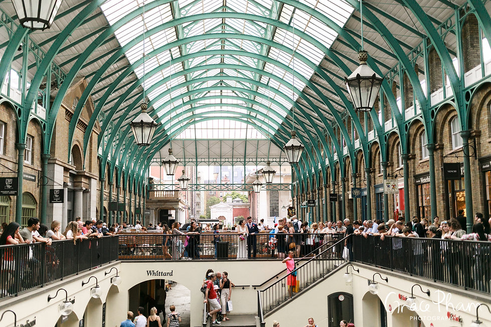 Covent Garden Market Wedding Photography, London by Grace Pham 01
