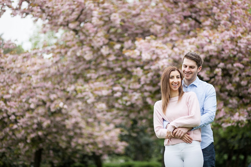 Engagement Photography in the Spring, Victoria Park, East London by Grace Pham Wedding Photographer 01