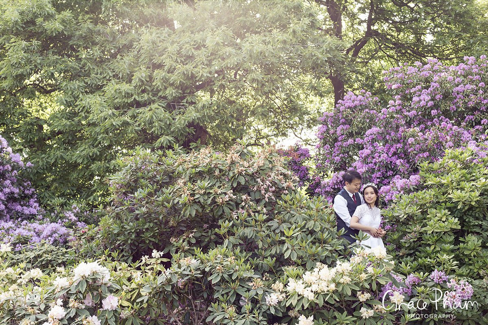 Greenwich Park Wedding, Flower Garden, London Photographer 01