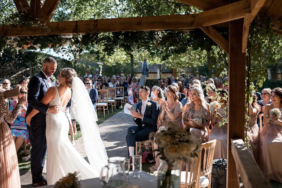 Sam & Charley Bury Court Farm Wedding, Farnham, captured by Grace Pham Photography 12