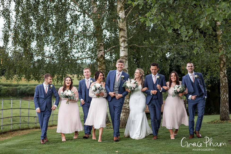 Gate Street Barn Wedding, Bridal Party, captured by Grace Pham Photography 5