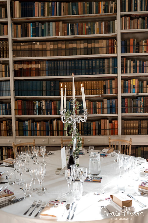 St Giles House Wedding Reception Room, Dorset, captured by Grace Pham Photography 03
