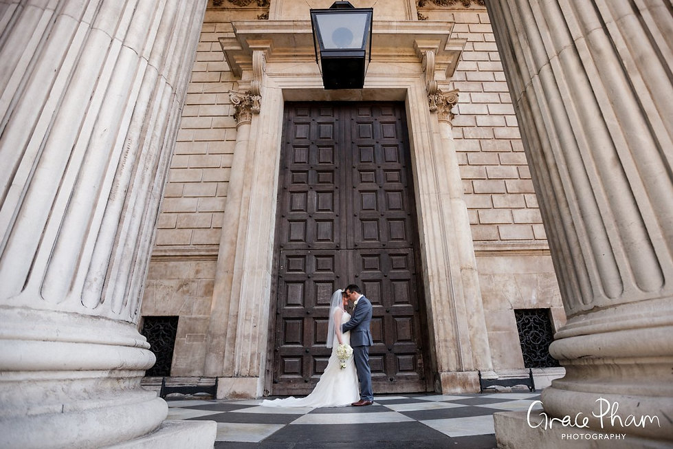 St Paul's Cathedral Wedding, London, Bride and Groom shoot, Grace Pham Photography 20