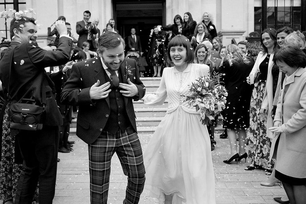 Islington Town Hall Wedding, confetti moment 02
