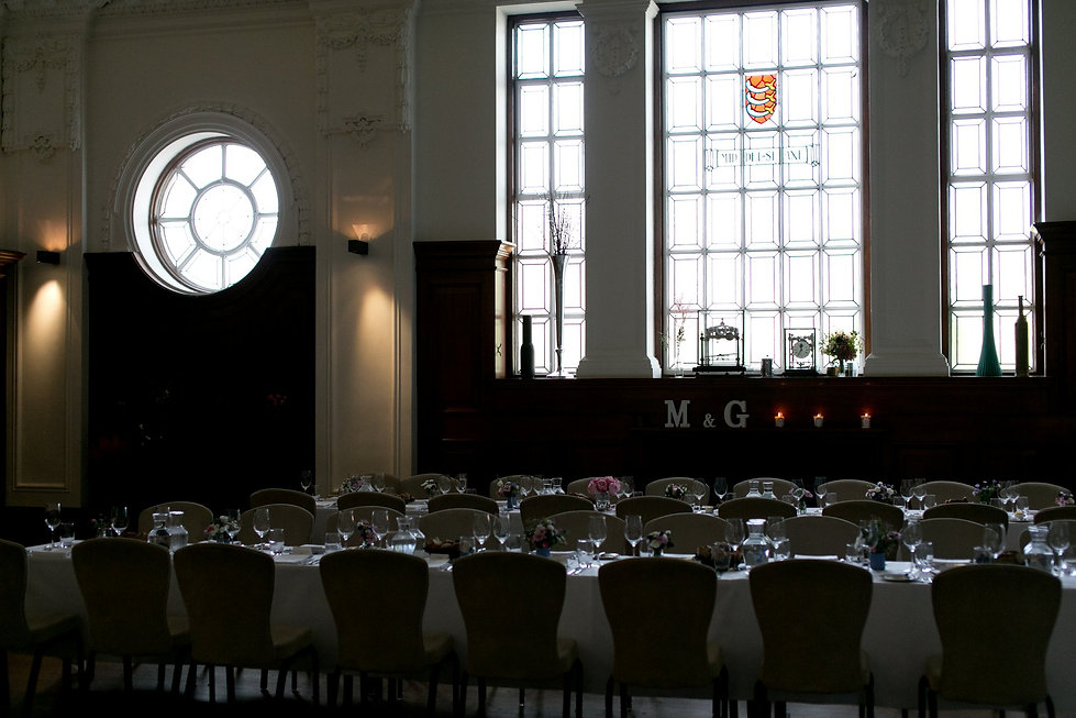 De Monfort Suite Wedding at the Town Hall Hotel.