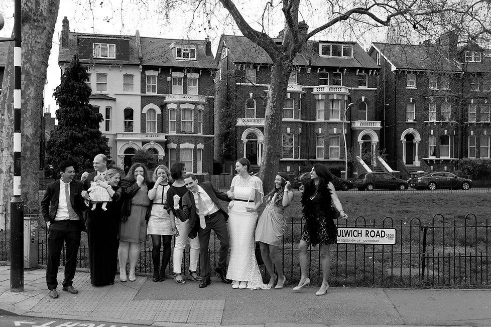 Reportage Wedding photographer, London, Dulwich Road