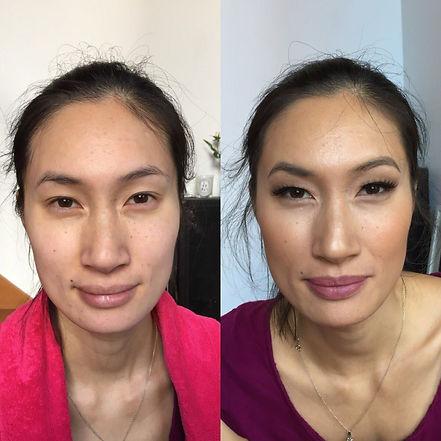 bridal make-up trial