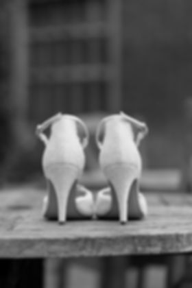 Wedding shoes, lace and lovey, captured by Grace Pham Surrey Wedding Photographer