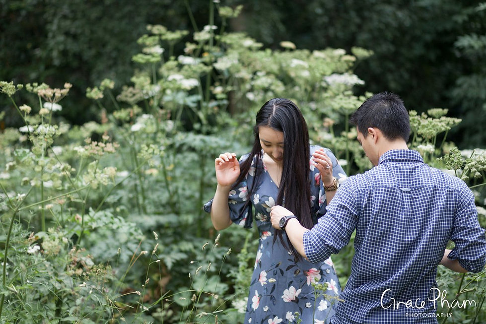 Hampstead Pergola & Hill Gardens Engagement Shoot captured by Grace Pham London Wedding Photographer 12