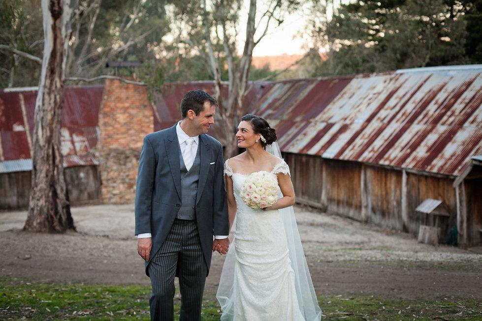 Bride and Goom got married at emu bottom homstead, melbourne.