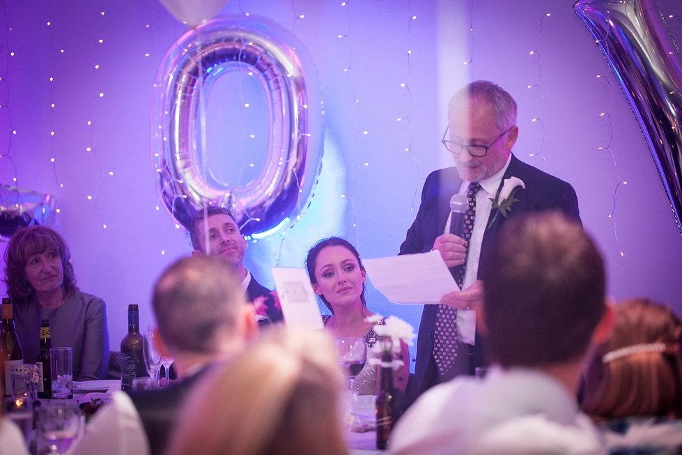 wedding speeches at studio spaces