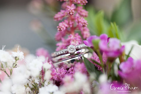 Wedding rings detailed shot by Grace Pham Photography