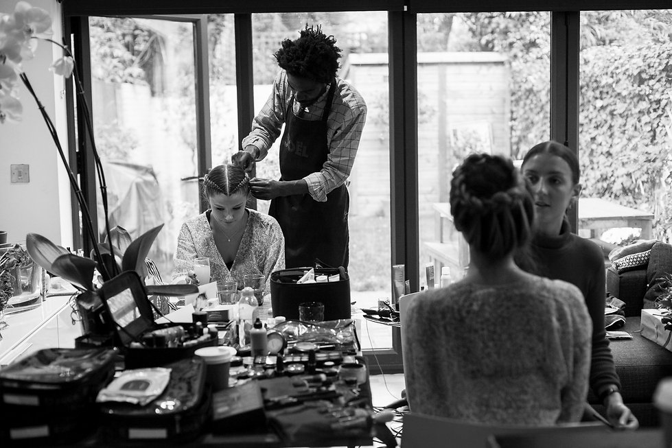 Getting ready photos for Rog and Flic's Wedding captured by Grace Pham Wedding Photographer