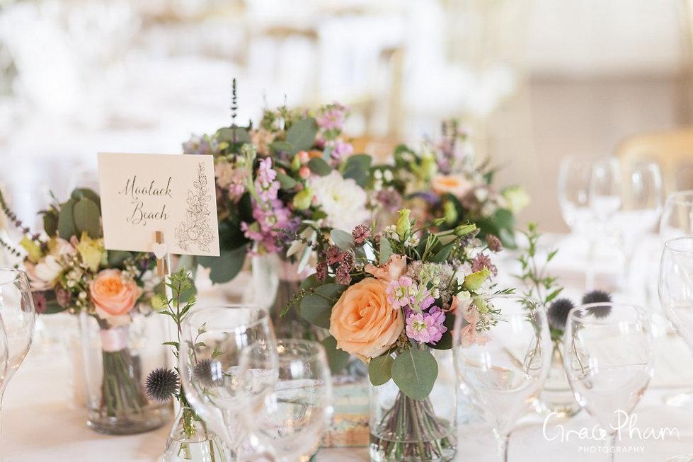 Hampden House Wedding Reception,  Dining Room images by  Buckinghamshire Wedding photographer  03