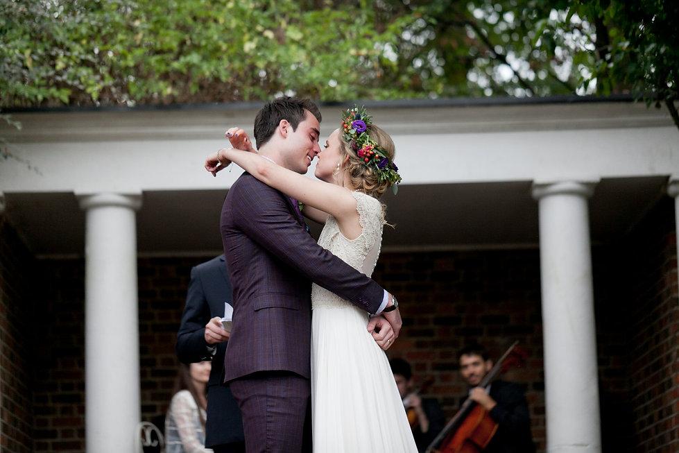 First Kiss. Meaghan Martin & Oli Higginson's Wedding at Cannizaro House, Wimbledon captured by London Wedding Photographer 72