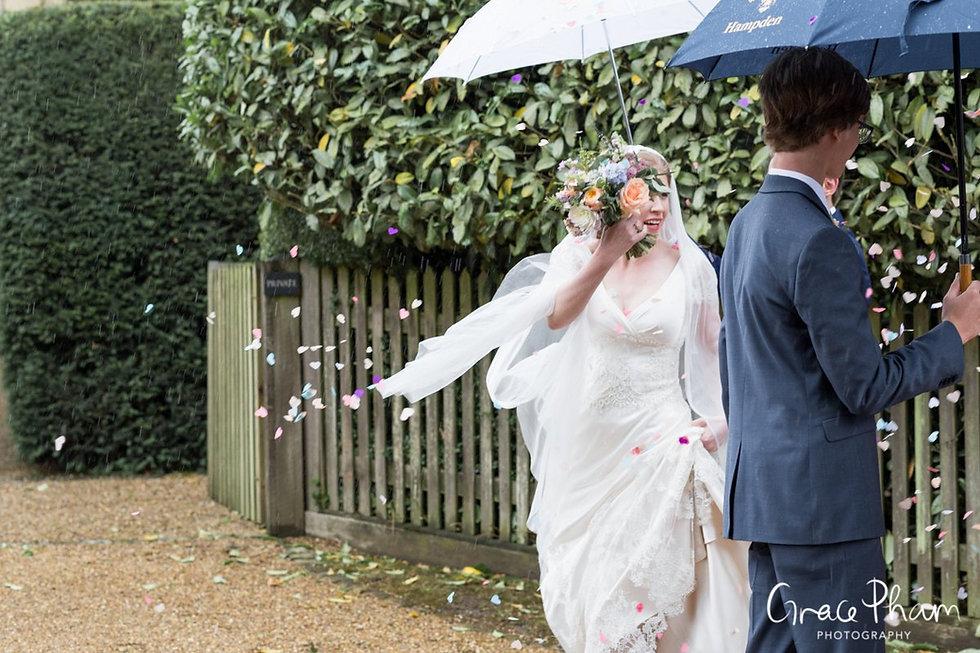 Hampden House Wedding confetti moment by UK Photographer 04