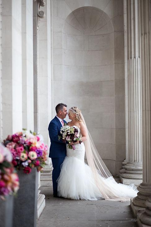 The Old Marylebone Town Hall Wedding Photography, London, Punk Bride 2
