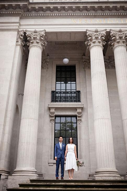 Old Marylebone Town Hall Wedding, London, captured by Grace Pham Photography, Aug 2019 3
