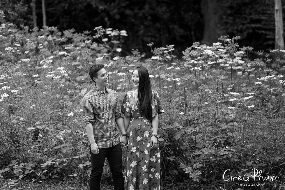 Hampstead Pergola & Hill Gardens Engagement Shoot captured by Grace Pham London Wedding Photographer 15