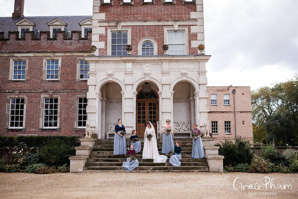 St Giles House Wedding, Dorset, Wimborne. Bridesmaids photos.  captured by Grace Pham Photography 01