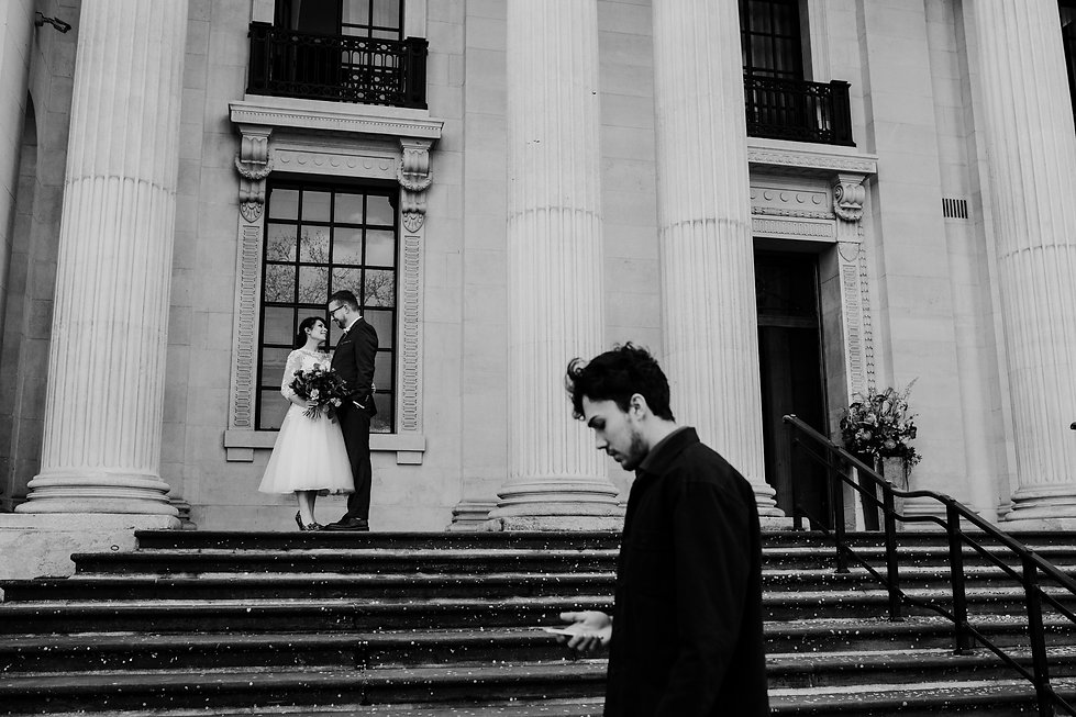 Covid-19  Wedding at The Old Marylebone Town Hall captured by Grace Pham Photography 9
