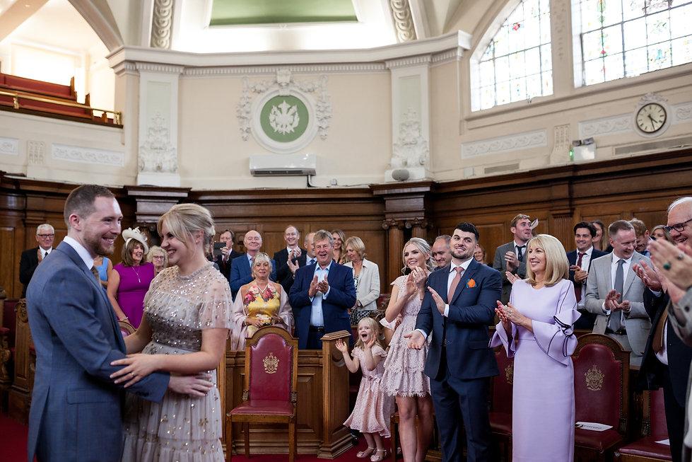 Islington Town Hall Wedding Photographer, London, Tom & Sophie,  captured by Grace Pham Photography 4