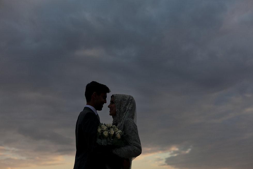 Sunset at Pembroke Lodge. The Belvedere. Pembroke Lodge Wedding, Richmond Park captured by Grace Pham Wedding Photographer