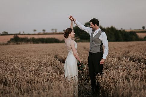 Countryside Family Farm Wedding, couple portraits, wheatfields, by Grace Pham Photography 03
