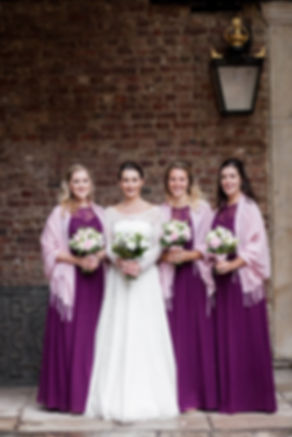 The Chapel Royal in St James's Palace Wedding captured by London Photographer Grace Pham, bridesmaids
