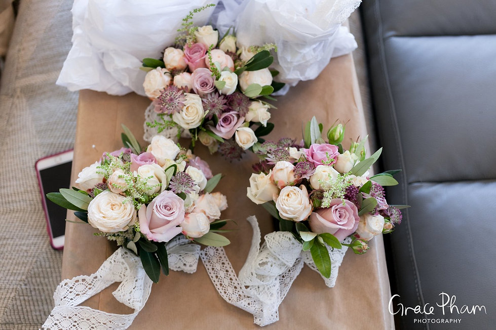 Wedding bouquet at Cooling Castle Barn, by Kent Wedding Photographer