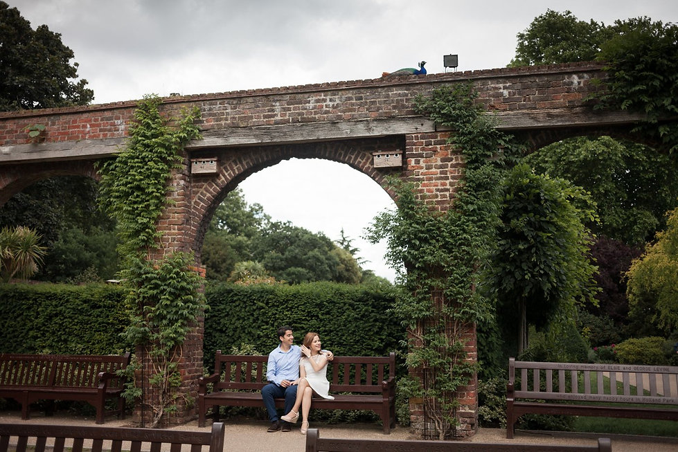 Holland Park, London Engagement Photoshoot 01