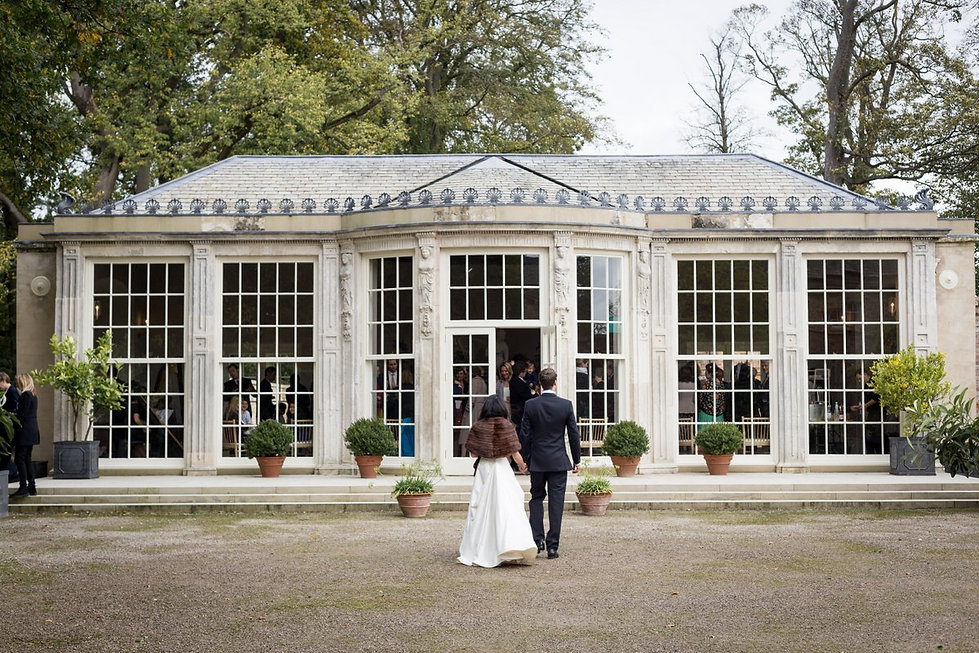 Newby Hall & Garden Wedding Photography, Orangery