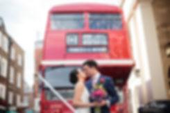 Theatre Royal Drury Lane Wedding Photography, Red London Bus 02