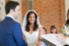Happy bride about to get married! Great Fosters Wedding, The Orangery & Conservatory at Great